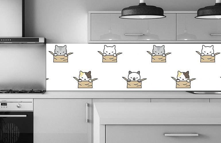 Скинали Фон котенок в коробке SK-000234 купить в Москве
